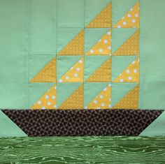 Starwood Quilter: Tall Ships Quilt Block