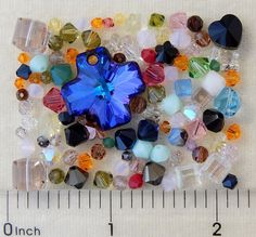 100 Assorted Swarovski Crystal Beads Bicone Cube Cross Butterfly Flower 17 Grams #Swarovski #Faceted