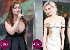Фото Полина Гагарина до и после похудения