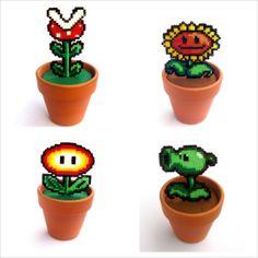 Plants from Super Mario Bros  Plantsvs Zombies www.etsy.com/Shop/FreakCreations  #videogames #videojuegos #nintendo  #classic #freak #friki #geek #retro #mario #luigi