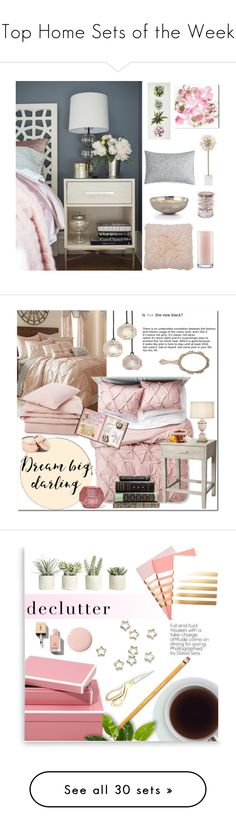 """Top Home Sets of the Week"" by polyvore ❤ liked on Polyvore featuring interior, interiors, interior design, home, home decor, interior decorating, Oliver Gal Artist Co., M&Co, Kate Spade and Barbara Barry"