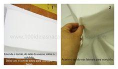 100 idéias na cabeça: Como fazer um lençol com elástico