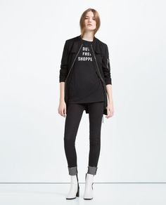 Image 1 of TEXT TOP from Zara