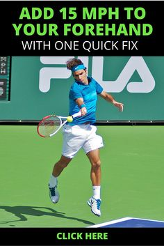 Learn a simple drill that will add 10 to 15 MPH to your forehand. #tennis