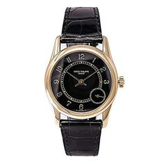 4095fae6a8 Patek Philippe Calatrava 5000J Mens Automatic Watch 18K Golf Leather Band  33mm Grade Rating  95