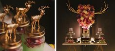Rustic + Elegant 40th Birthday. LOVE the bright colors with the gold. gorgeous
