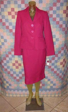 Evan-Picone Womens 2 Pc Business Suit Pleated Skirt & Blazer Jacket Size 4 (New) #EvanPicone #StMorritzSkirtSuit