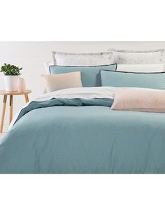 Chic and sophisticated, the Azure duvet cover set from the Your Home and Garden range features a grey reverse.