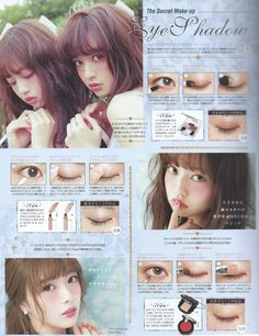 I purchased the September 2015 issue of Pichile magazine, Larme 017 and Risa Nakamura& First Style Book during my Japan trip, and I wante. Korean Makeup Tips, Korean Makeup Tutorials, Basic Makeup, Kawaii Makeup, Cute Makeup, Makeup Looks, Makeup Inspo, Makeup Inspiration, Beauty Makeup