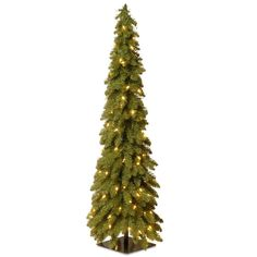 National Tree Company 4 ft. Downswept Forestree Artificial Christmas Tree with Clear Lights-FTD1-48ALO - The Home Depot