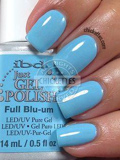 nails.quenalbertini: ibd Just Gel Polish Social Lights Collection - Full Blu-um