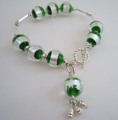 Green Bracelet Silver Jewelry Unique Handcrafted by cdjali on Etsy, $10.00