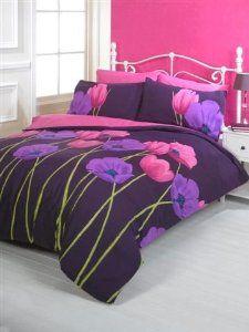 Mei Purple Heather Cream Soft Jacquard King Size Duvet