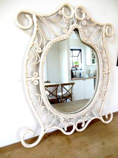 Wicker Rattan Boho Mirror 70s White by FreewheelFinds on Etsy https://www.etsy.com/listing/285429953/wicker-rattan-boho-mirror-70s-white?ref=shop_home_active_8