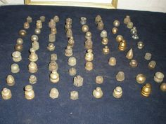 Vintage Lot Of 100 Vintage Brass ,bronze Lamp, Chandelier, Light Finials cap