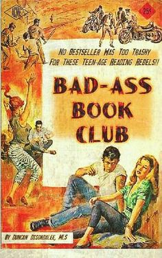 The first Rule of Book Club. Library Posters, Library Books, Good Books, Books To Read, My Books, Librarian Humor, Pulp Fiction Book, Book Themes, Book Nerd