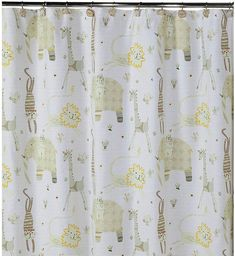 CREATIVE BATH Creative BathTM Animal Crackers Shower Curtain. Lions, tigers, giraffes and elephants, oh my! This fun shower curtain celebrates all your favorite animals of the jungle. #showercurtain #bathroom  #ad
