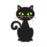 Items similar to Black Cat Individual APPLIQUE Machine Embroidery Designs on Etsy Cat Applique, Applique Quilts, Embroidery Applique, Machine Embroidery Designs, Halloween Applique Designs, Baby Clip Art, Cat Quilt, Animal Decor, Halloween Cat