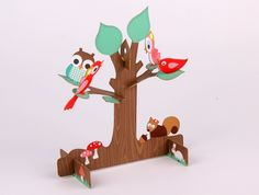 Point to Paper - laser cutting  Birth announcements card tree