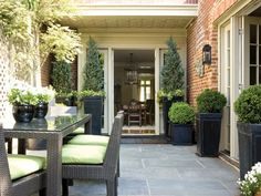 A Soothing Palette By Julie Sanders : Back Patio Into A Luxurious Outdoor Room