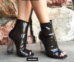 @caperobbin benny-s #perspex boots in Black #caperobbin