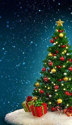 Holiday wallpaper christmas tree, christmas ornaments, holiday decor, home decor, xmas ornaments Christmas Scenes, Christmas Art, Beautiful Christmas, Vintage Christmas, Christmas Holidays, Christmas Decorations, Xmas Ornaments, Lawn Decorations, Christmas Gifts
