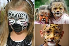 Kinder wie ihre beliebte Tiere schminken lassen