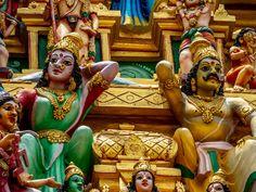 Temple of Sri Kailawasanathan Swami Devasthanam Kovil Rooftop, Temple, Buddha, Fair Grounds, Princess Zelda, Statue, Fictional Characters, Art, Art Background