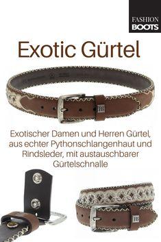 7cd664209b2fbd Fashion Boots FG3012 Marron Piton Marron Exotic Gürtel - braun | Exotischer  Damen und Herren Gürtel