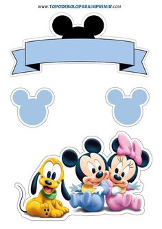 topo de bolo mickey baby Baby Mickey Mouse, Bolo Mickey Baby, Festa Mickey Baby, Minnie Mouse Clipart, Theme Mickey, Minnie Mouse Cake, Minnie Mouse Birthday Decorations, Princess Cake Toppers, Baby Animal Drawings