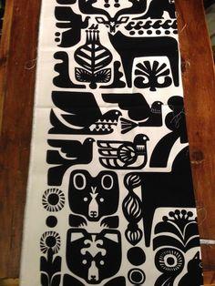 "Marimekko Kanteleen Kutsu UPHOLSTERY GRADE fabric, 13"" x 36"" #Marimekko"