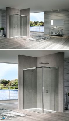 acqua R 5000 • this corner situation shower demonstrates steadiness without losing its dynamic touch provided by the smooth movements of the sliding door.