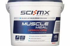 Sci-MX Nutrition  Muscle Meal Hardcore 5.27 kg Strawberry - High protein meal shake for mass gain Nutritionally rich and balanced shake to be used in conjunction with a muscle gain training and eating plan (Barcode EAN = 5060161305203). http://www.comparestoreprices.co.uk/body-building-supplements/sci-mx-nutrition-muscle-meal-hardcore-5-27-kg-strawberry--high-protein-meal-shake-for-mass-gain.asp