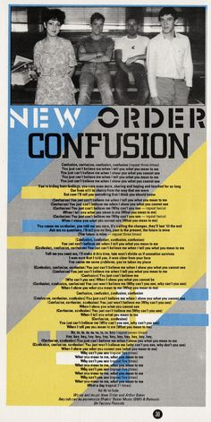 NEW ORDER, Confusion, 1983