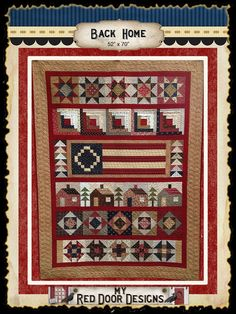 Back Home  Quilt Kit by myreddoordesigns on Etsy, $110.00 take 25% off this kit today - Cyber Monday. use coupon code SAVE25