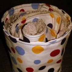 Lingettes en éponges et coton