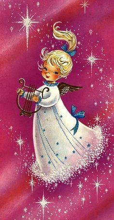 Christmas Card Images, Christmas Past, Vintage Christmas Cards, Pink Christmas, Christmas Greeting Cards, Christmas Pictures, Christmas Angels, Christmas Greetings, Christmas Classics