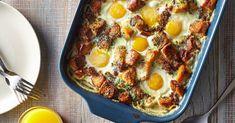 Breakfast Egg Casserole, Brunch Casserole, Breakfast Dishes, Casserole Recipes, Breakfast Recipes, Breakfast Muffins, Breakfast Ideas, Real Food Recipes, Cooking Recipes