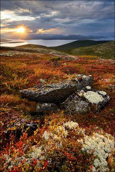 Россия, Кольский полуостров, Хибины, вид на озеро Имандра