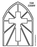 Printable Stain Glass Cross at coloring-pages-book-for-kids-boys.com