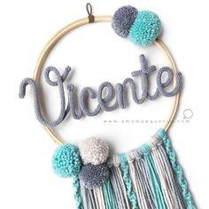 ɑ mɑmãe queriɑ 💭 ( Handmade Crafts, Diy And Crafts, Dream Catcher Art, Spool Knitting, How To Make Toys, Baby Girl Photos, Boho Diy, Baby Decor, Diy Toys
