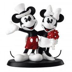 Mickey And Minnie Mouse Wedding Figurine Marriage Disney