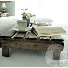 Rustic Home Decor -Pallet Wood -Serving Tray -Breakfast Tray ($130) ❤ liked on Polyvore featuring home, kitchen & dining and serveware