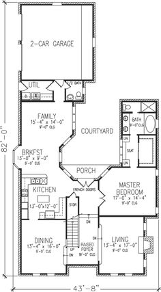 House plans on pinterest home plans courtyards and for House designs with courtyard in the middle