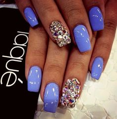 I would like these better if they were almond-shaped, but I love the color and the bling. ∞