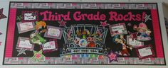 Fourth Grade Rocks!!--- cute to add interesting pics of what will be taught throughout the year... /out as you go