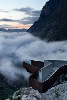 Viewing platform above Trollstigen Route, Norway (by ArchiTeam).