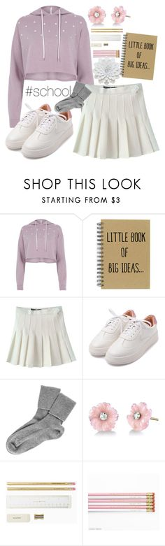 """""""school"""" by seventeen-0 ❤ liked on Polyvore featuring River Island, Black and Irene Neuwirth"""