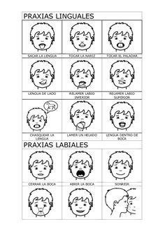 Ejercicios praxias Speech Language Pathology, Speech Therapy Activities, Speech And Language, Five Senses Preschool, My Five Senses, Apraxia, Preschool Education, Classroom Activities, Oral Motor Activities
