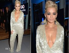 Rita Ora In Nicholas Oakwell Couture - GQ Men Of The Year After-Party - Red Carpet Fashion Awards